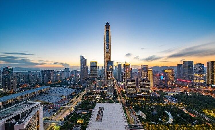 El Ping An Finance Center es el cuarto edificio más alto del mundo, con 599 m de altura (Shutterstock)