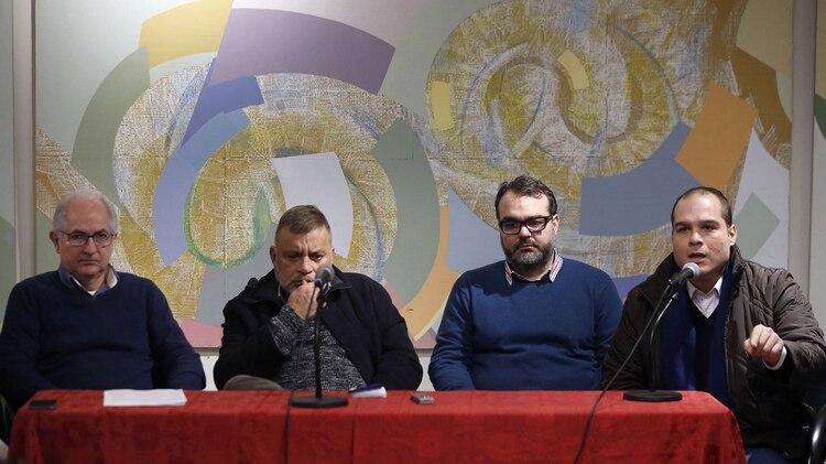 Ledezma junto a Ramón López, José Ignacio Guédez y Sergio Contreras (EFE)