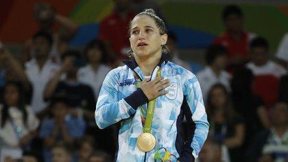 La judoca argentina Paula Pareto conquistó el oro en Río 2016 (AFP)
