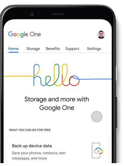 Se sumó un nuevo administrador de almacenamiento en la aplicación Google One y en la web.