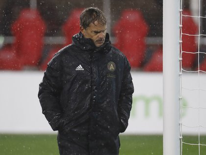 Mar 3, 2019; Washington, D.C., USA; Atlanta United head coach Frank de Boer walks off the field after the game against D.C. United at Audi Field. Mandatory Credit: Geoff Burke-USA TODAY Sports