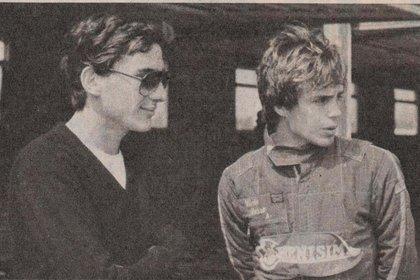Ayrton Senna y Víctor Rosso en 1982 (Archivo CORSA).