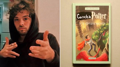 Santiago Maratea y su polémica intervención al libro de Harry Potter (Foto: Instagram)