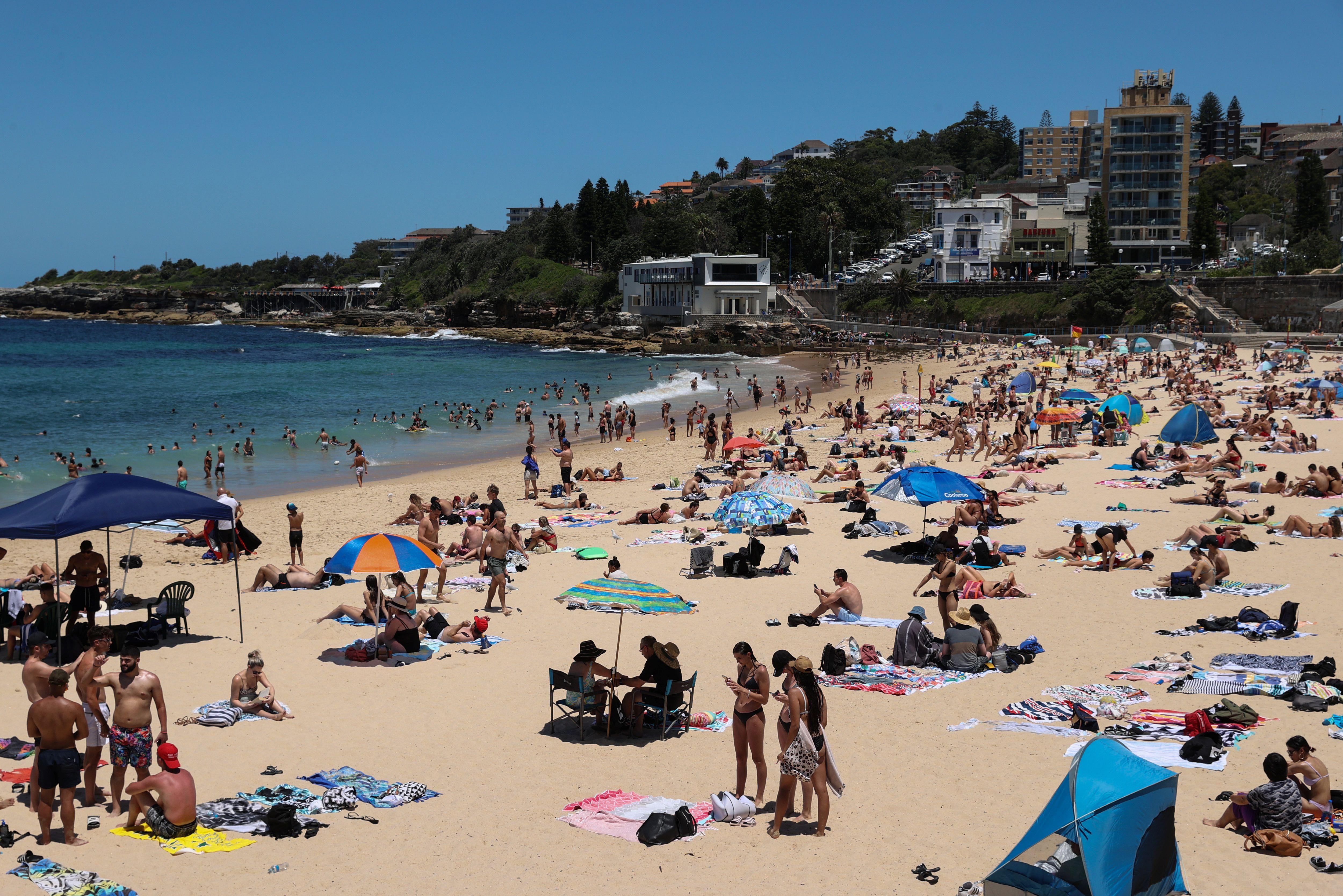 Coogee Beach, en Sídney, Australia, el 13 de enero de 2021. REUTERS / Loren Elliott
