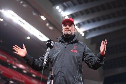 Klopp se enojó con el análisis del triunfo del Liverpool frente al Arsenal que hizo la leyenda del Manchester United, Roy Keane (REUTERS)