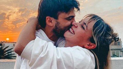 Una de las románticas fotos que publicó Sofía Pachano en su cuenta de Instagram cuando anunció su relación con Santiago Ramundo