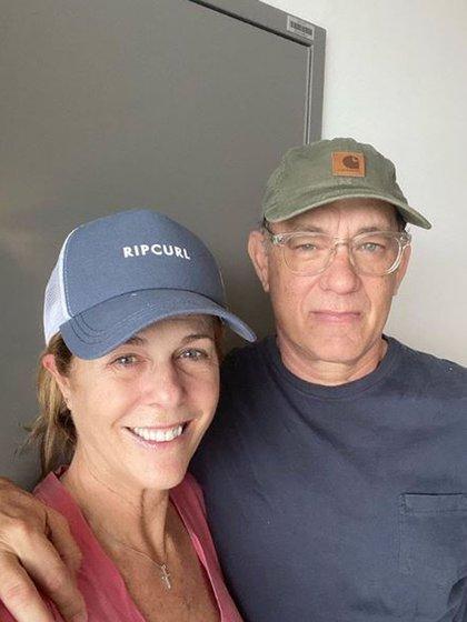 La foto que compartió Tom Hanks y su esposa, Rita Wilson, tras ser diagnosticados