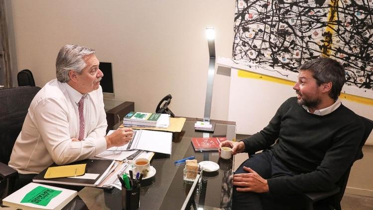 Alberto Fernández y Matías Lammens, Ministro de Turismo y Deportes