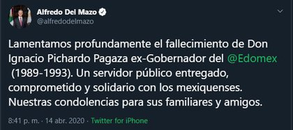 (Captura de pantalla: Twitter/Alfredo del Mazo)