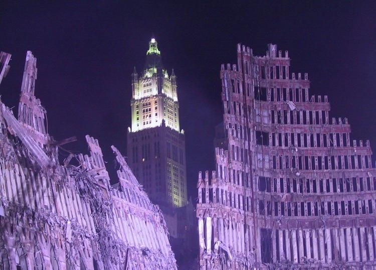WTC tras el ataque (Foto: Flickr/Jason Scott)