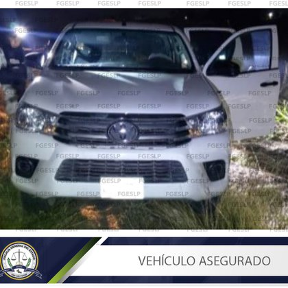 After the events, the FGE seized 5 armored units, several long and short weapons, multiple useful cartridges, as well as tactical equipment (Photo: http: //fiscaliaslp.gob.mx/)