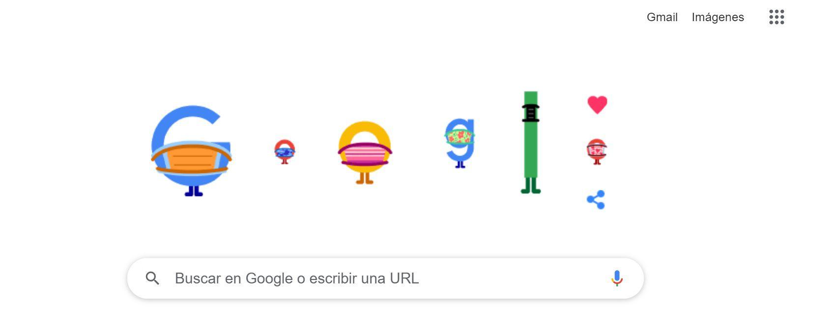 Google doodle mascarillas