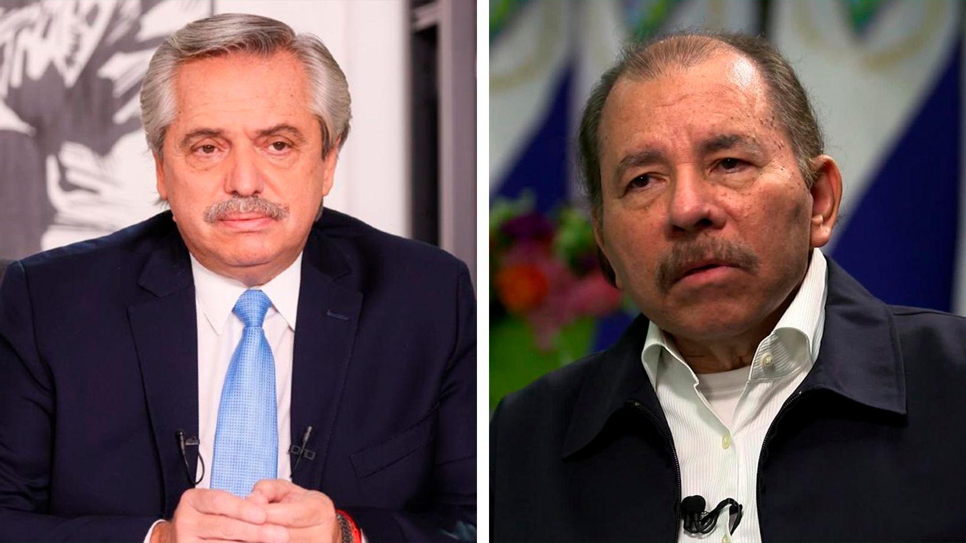 Foto partida Alberto Fernández Daniel Ortega