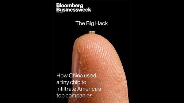 La portada de Bloomberg, que investigó este caso de ciberespionaje chino que involucró el uso de microchips.