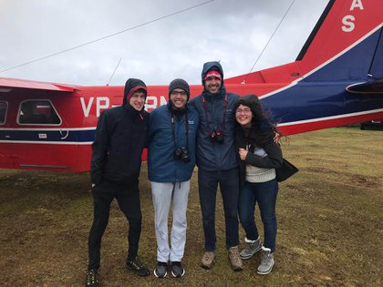 Nicolás viajó junto a estudiantes de Uruguay, Brasil y Chile