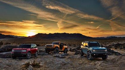 La gama completa de la sexta generación del Ford Bronco (Ford)