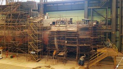 El submarino ARA Santa Cruz