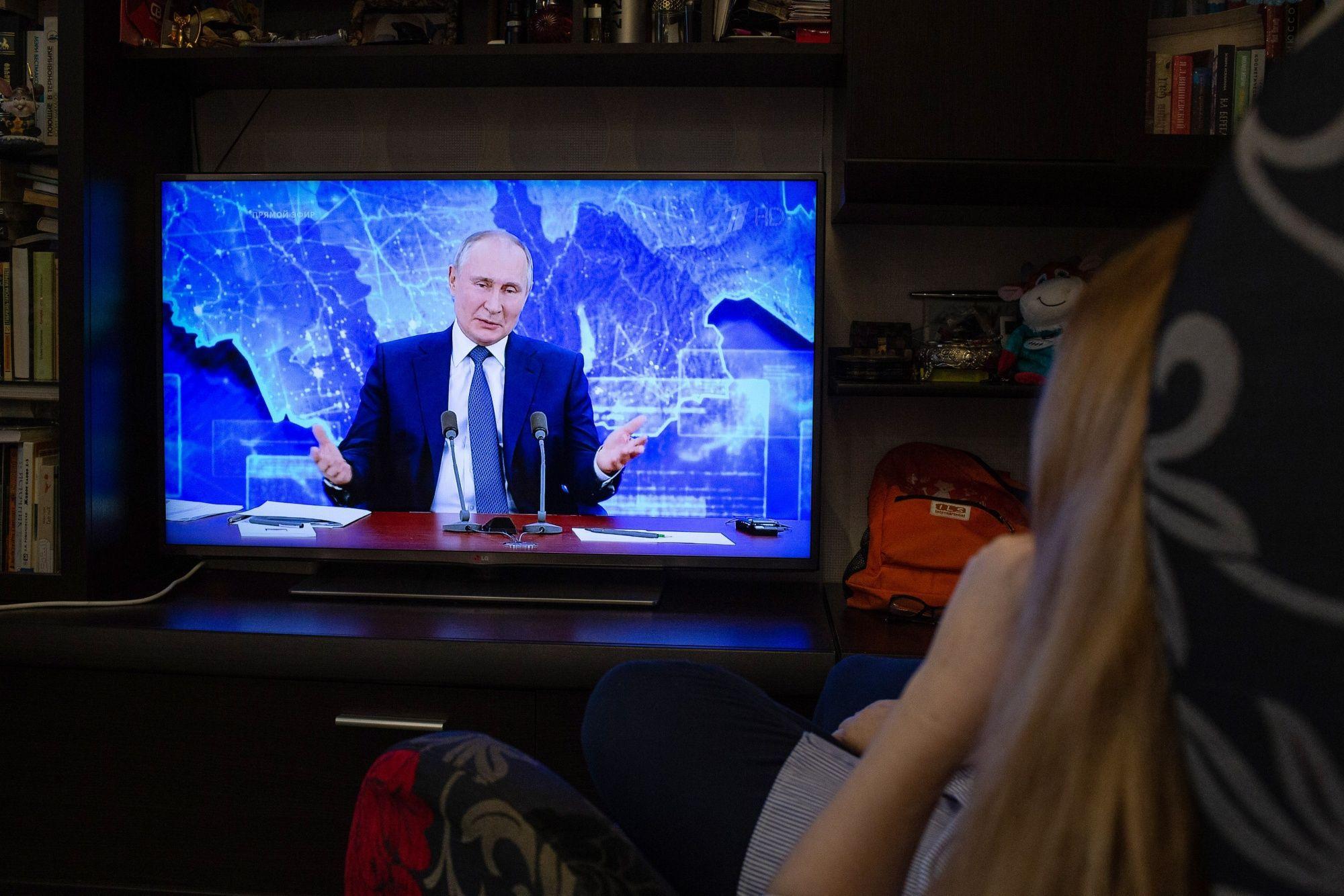 Vladimir Putin on Dec. 17. Photographer: Andrey Rudakov/Bloomberg