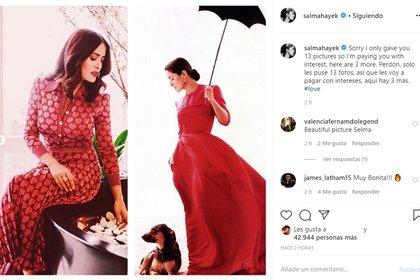 En estas tres nuevas imágenes también lució con atuendos entallados y rojos. (Foto: Instagram)