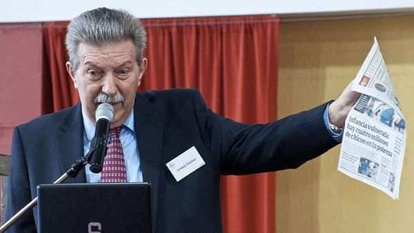 El pastor Rubén Proietti, presidente de ACIERA, en una Cumbre de Niñez, Adolescencia y Familia (imagen de archivo – ACIERA)