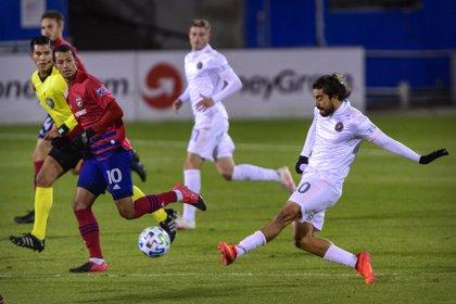 Pizarro está por detrás de Lewis Morgan, que tiene cinco tantos, lo que los convierte en los goleadores del Inter Miami (Foto: Jerome Miron/ USA TODAY Sports)