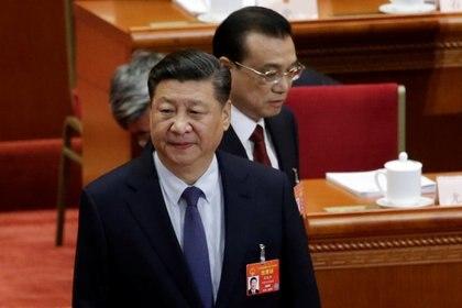 El presidente chino Xi Jinping y el primer ministro Li Keqiang en la apertura de la sesión anual del Congreso Nacional del Pueblo (REUTERS/Jason Lee)