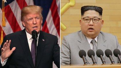 El presidente estadounidense, Donald Trump, y el dictador norcoreano, Kim Jong-un (Getty / Reuters)