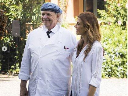 Con el Chef Francis Mallmann, un orgullo para los argentinos, que preparó el almuerzo para este encuentro. Gracias @francismallmann
