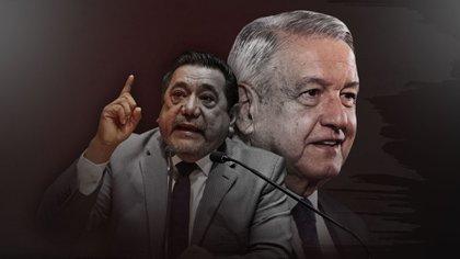 Félix Salgado Macedonio busca la gubernatura de Guerrero abanderado por el partido del residente (Foto arte: Jovani Pérez Silva/Infobae México)