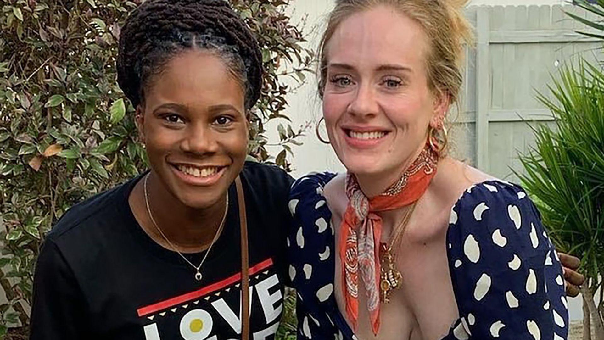 Adele mostró su nuevo cuerpo en las playas del Caribe en compañía de Harry Styles y James Corden