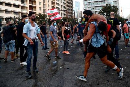 Protestas en Beirut (AP)