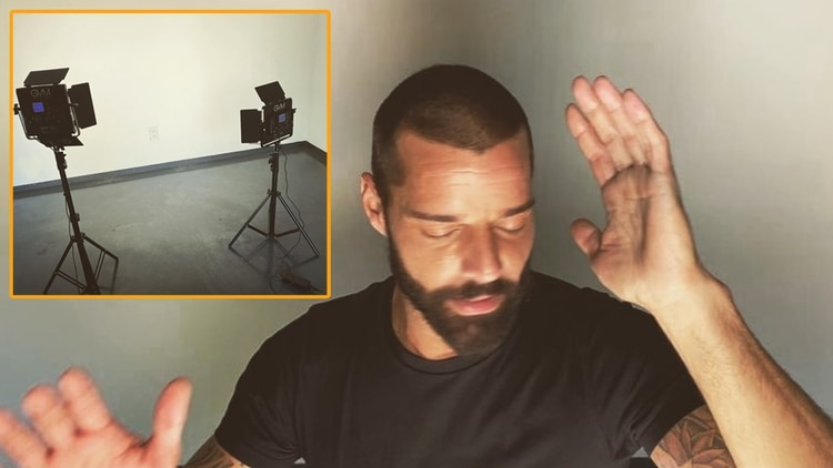 Ricky Martin graba videoclip nuevo en su sótano (Foto: Instagram @ricky_martin)