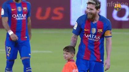 Messi junto a Murtaza en Doha