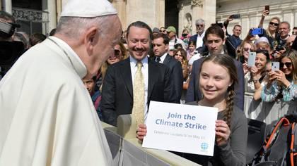 """""""Únete al cambio climático"""", el pedido de Greta (Reuters)"""