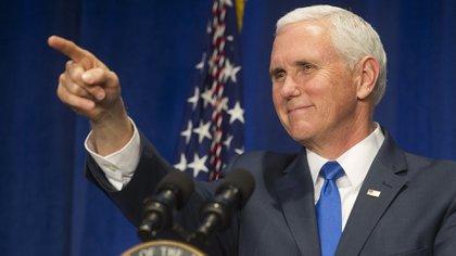El vicepresidente Mike Pence (AP Photo/Cliff Owen)