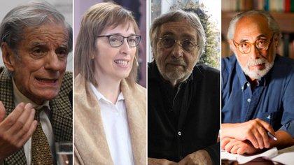 """Juan José Sebreli, Sandra Pitta, Luis Brandoni y Santiago Kovadloff: 4 de los 300 firmantes de la carta """"La democracia está en peligro"""""""