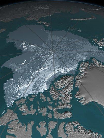 El hielo marino ártico más antiguo y grueso disminuyeprogresivamente