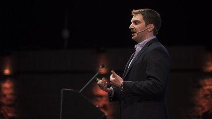 John Saroff, CEO de Chartbeat, fue uno de los más escuchados (Adrián Escandar)