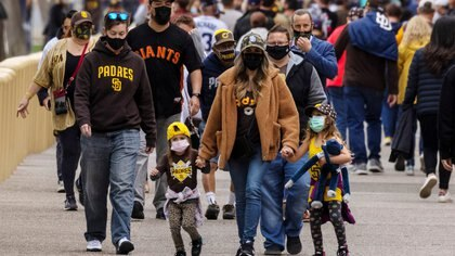 Baseball fans return to bars and restaurants surrounding Petco Park as the San Diego Padres host the San Francisco Giants in San Diego