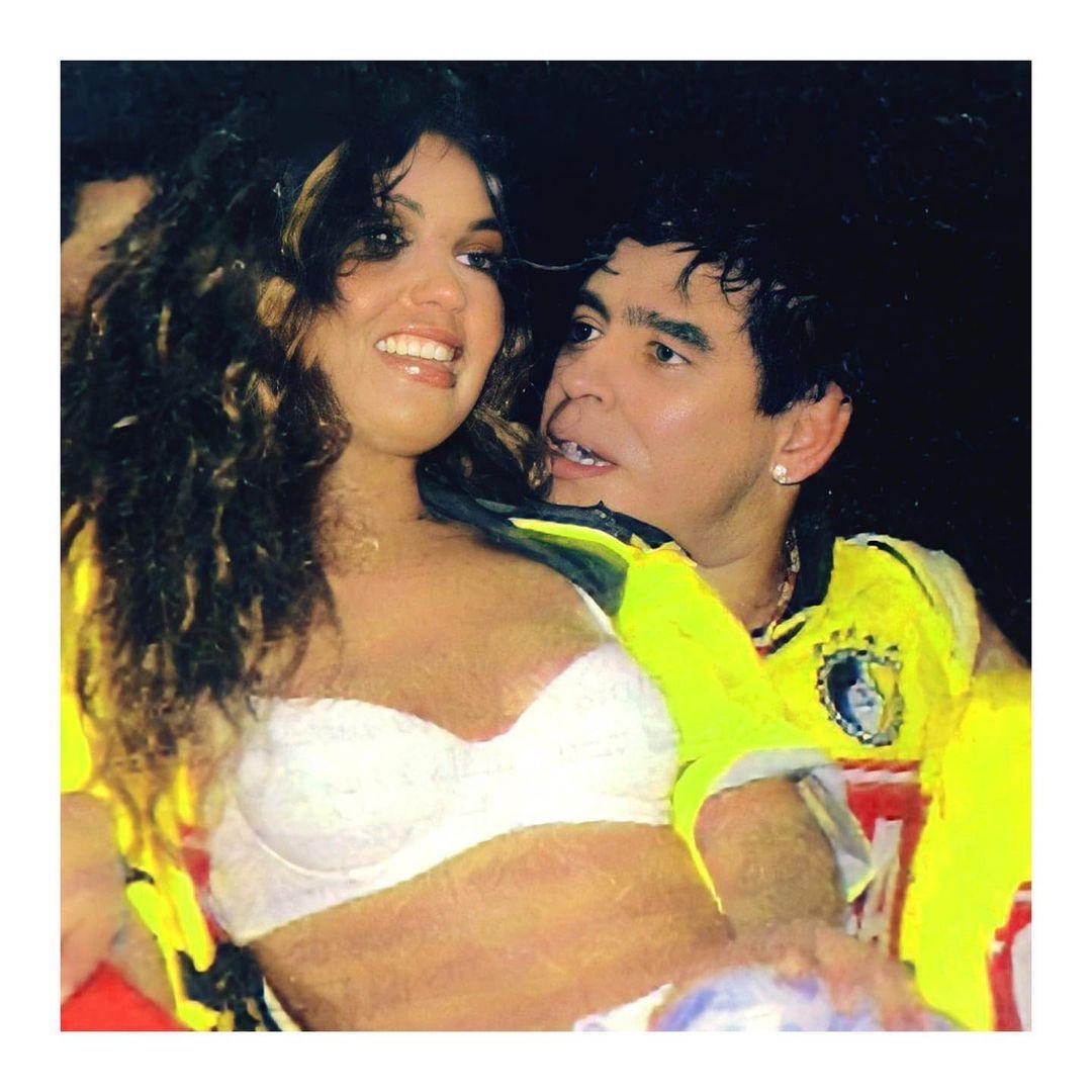 Thalía y Maradona (Foto: Instagram @thalia)