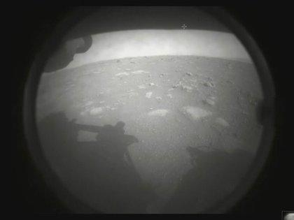 La primera foto del rover Perseverance desde Marte (NASA)