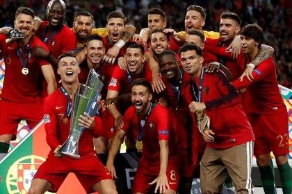 Cristiano Ronaldo y Portugal defienden el título de la UEFA Nations League conseguido el año pasado (Reuters)