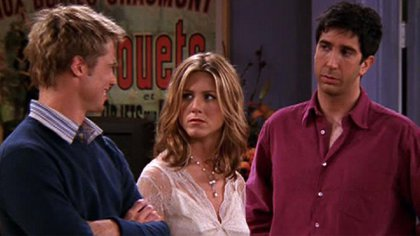 """Jennifer Aniston y Brad Pitt en """"Friends"""""""