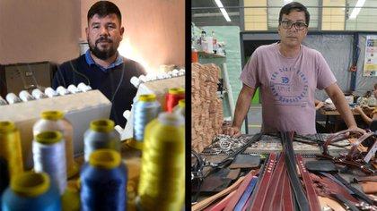 Julio Fuque y Oscar Cajal recibieron a DEF en sus cooperativas. Foto: Fernando Calzada/DEF.