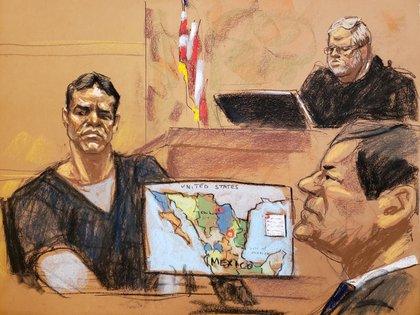 """""""¿A qué se dedica tu padre?"""", fue una de las primeras preguntas que realizó la fiscalía. """"Mi padre es el líder del Cártel de Sinaloa"""", contestó """"El Vicentillo"""" (Foto: REUTERS/Jane Rosenberg)"""