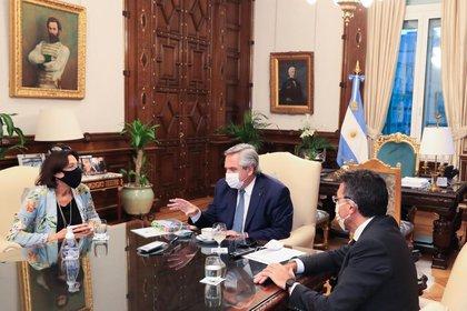 La reunión de Alberto Fernández con los titulares de la FAM y JUFEJUS (Foto: FAM)