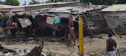 Una vivienda de Tasajera, uno de los lugares con mayor índice de pobreza extrema en Colombia. Foto: Roger Urieles