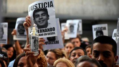 Marcha por Báez Sosa: el padre de Máximo Thomsen aseguró que intentó comunicarse con el padre de la víctima (Nicolás Stulberg)