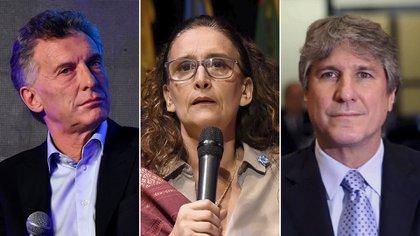 Mauricio Macri, Gabriela Michetti y Amado Boudou