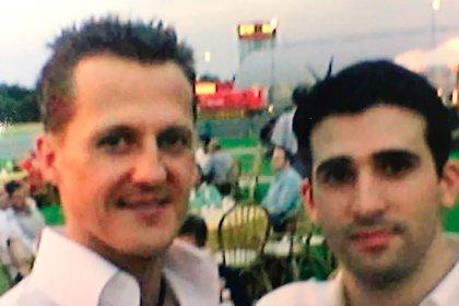 No es buena calidad, pero hay que tener una foto con Schumacher: Fabricio Bondi se dio ese lujo (Fabricio Bondi).